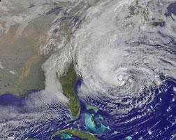 Hurricane Sandy, credit NASA