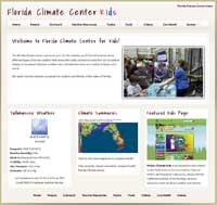 Florida Climate Center Website for Kids